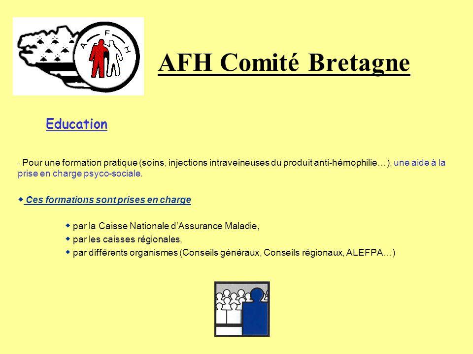AFH Comité Bretagne Education ◆ Ces formations sont prises en charge