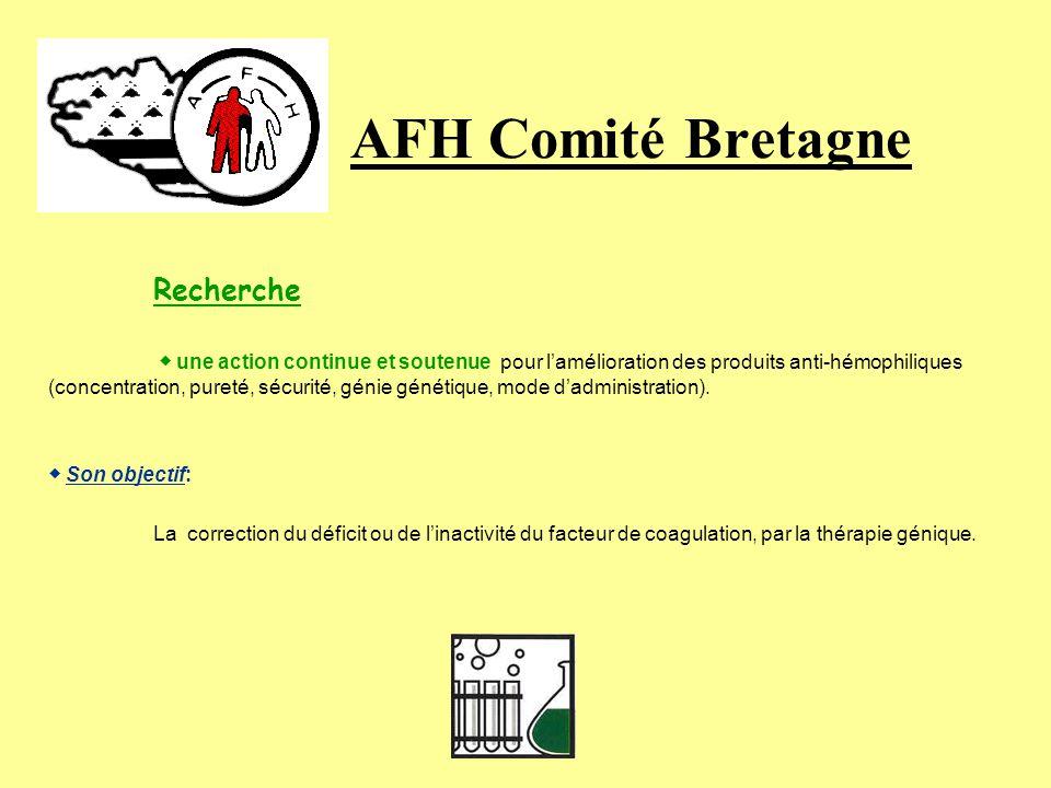 AFH Comité Bretagne Recherche ◆ Son objectif: