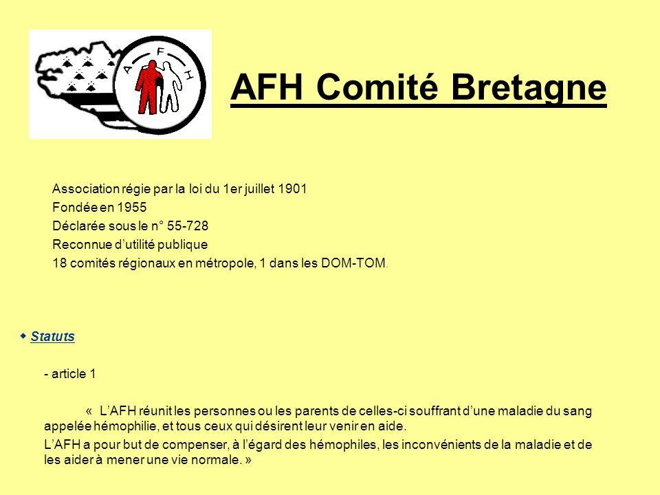 AFH Comité Bretagne Association régie par la loi du 1er juillet 1901