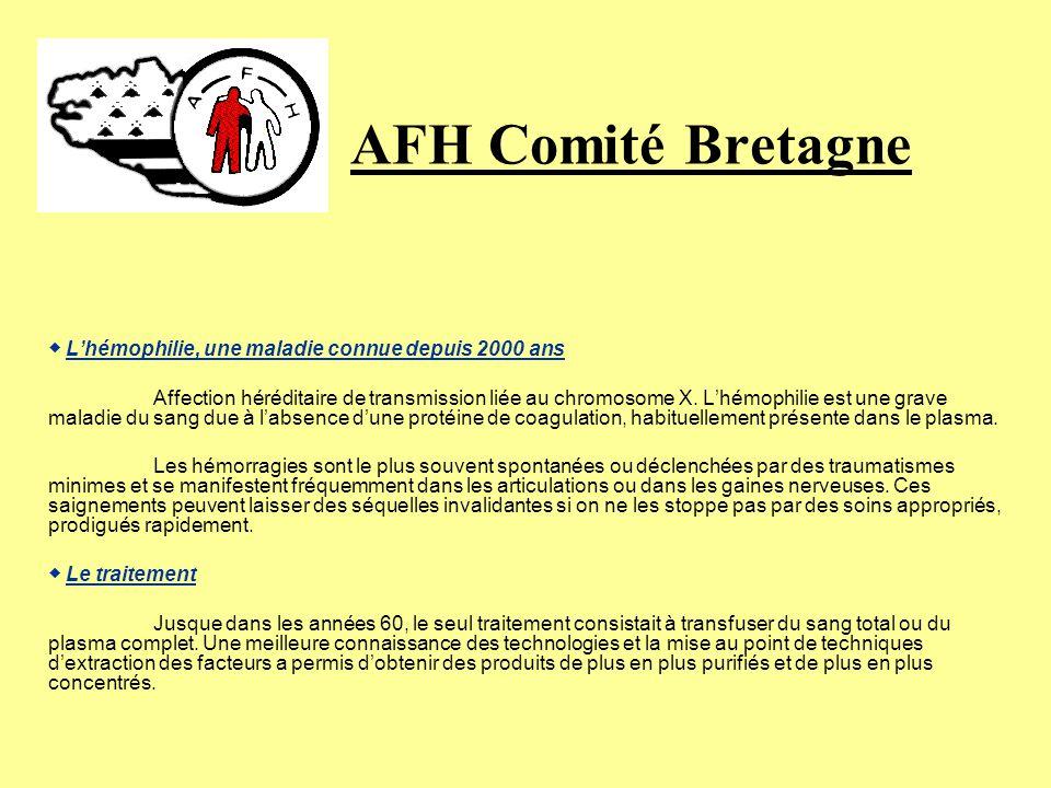 AFH Comité Bretagne ◆ L'hémophilie, une maladie connue depuis 2000 ans