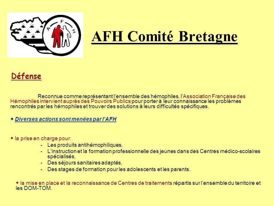 AFH Comité Bretagne ◆ Diverses actions sont menées par l'AFH