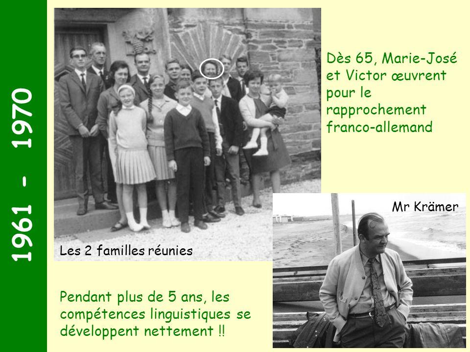 Dès 65, Marie-José et Victor œuvrent pour le rapprochement franco-allemand