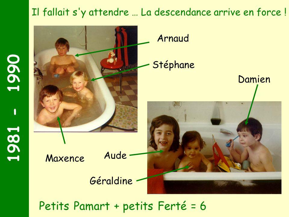 1981 - 1990 Petits Pamart + petits Ferté = 6