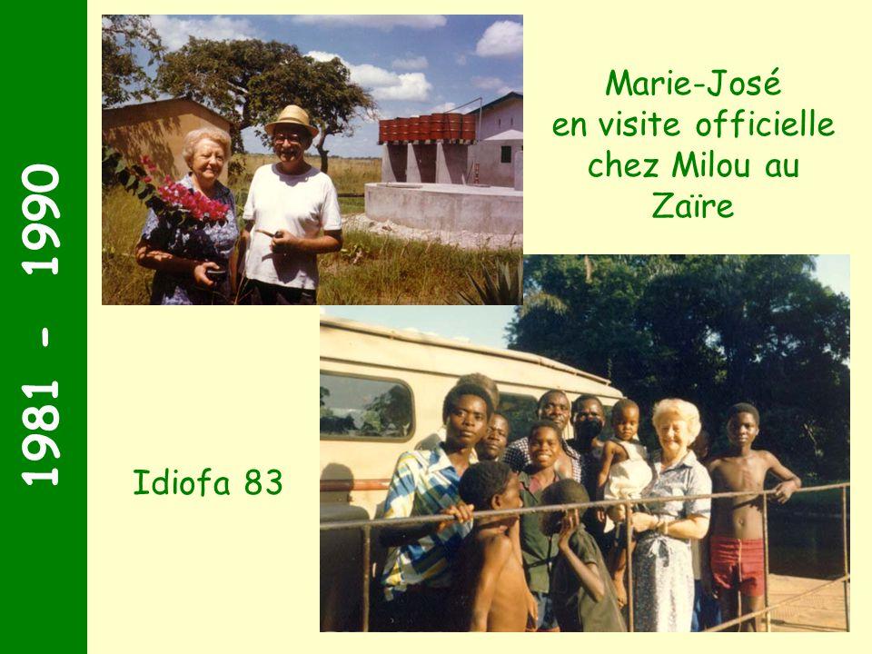 en visite officielle chez Milou au Zaïre