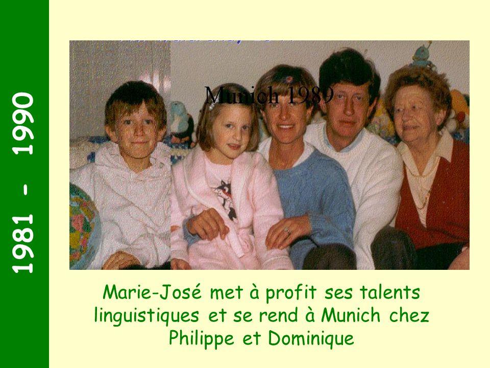 1981 - 1990 Quelques années plus tard, tu mets à profit tes talents linguistiques et te rend à Munich chez Philippe et Dominique.