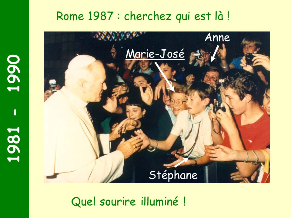 1981 - 1990 Rome 1987 : cherchez qui est là ! Anne Marie-José Stéphane