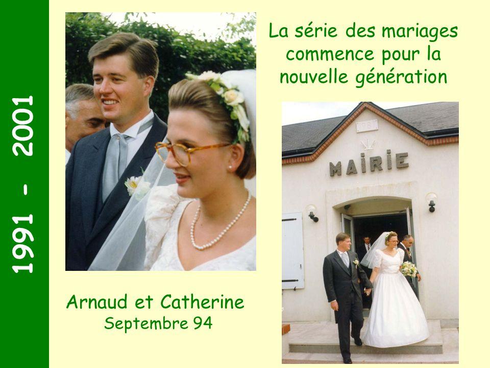 La série des mariages commence pour la nouvelle génération