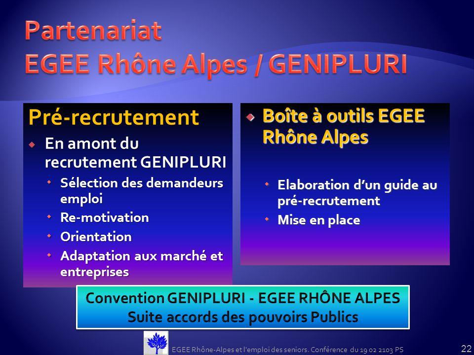 Partenariat EGEE Rhône Alpes / GENIPLURI