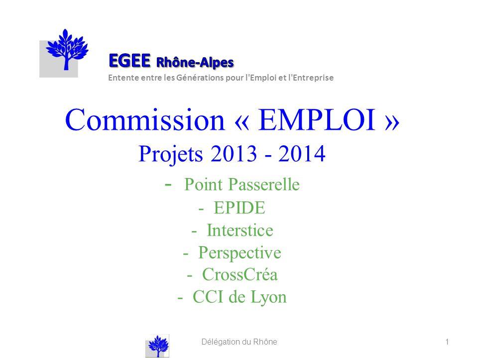 EGEE Rhône-Alpes Entente entre les Générations pour l Emploi et l Entreprise.