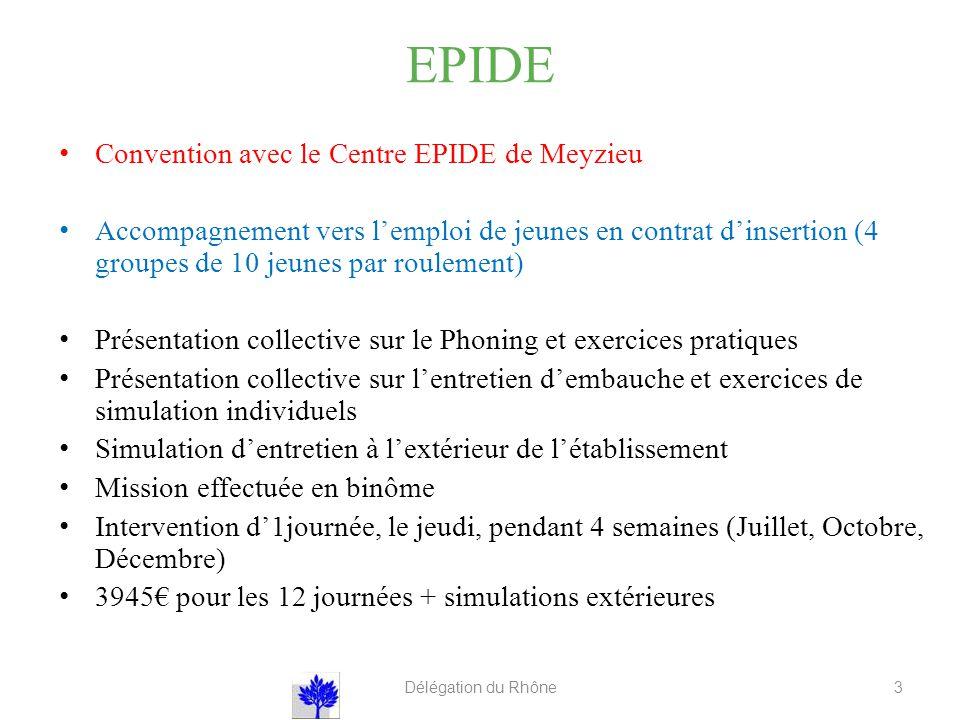 EPIDE Convention avec le Centre EPIDE de Meyzieu