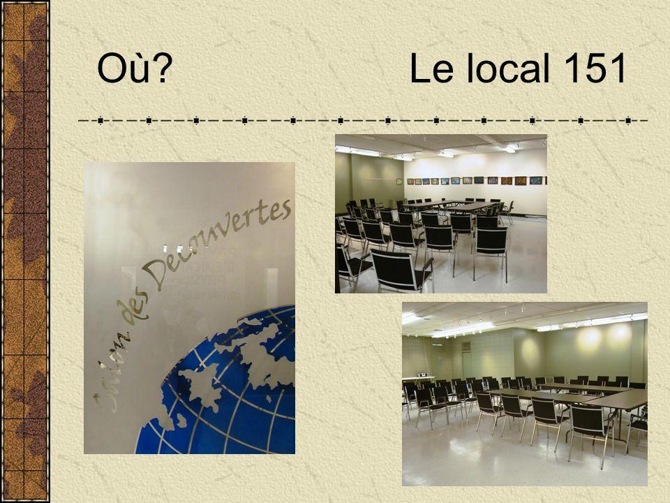 Où Le local 151