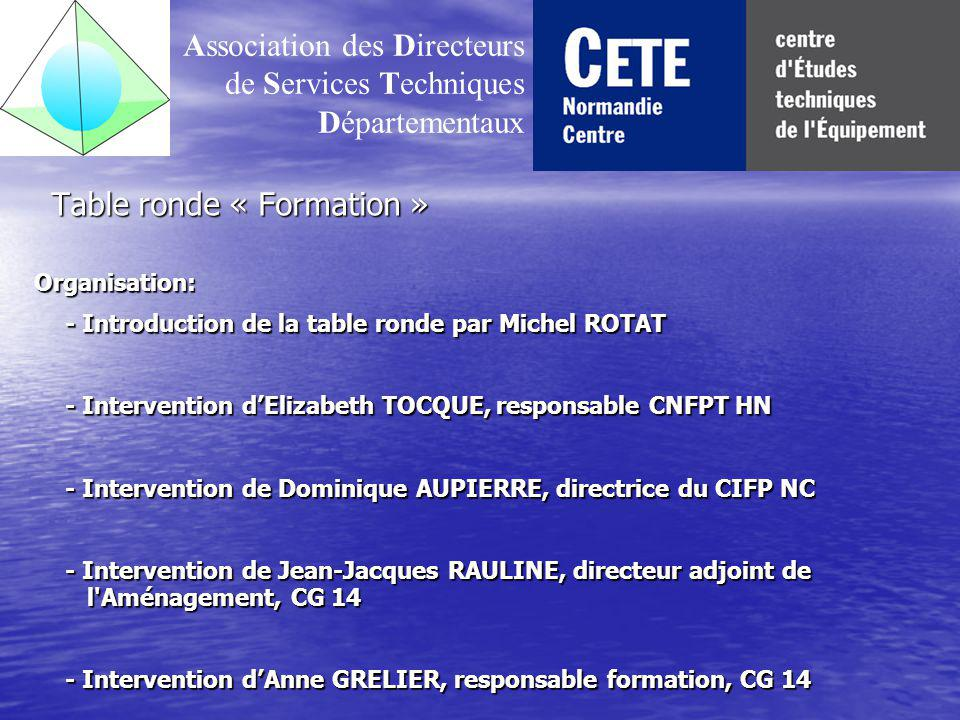 Table ronde « Formation »