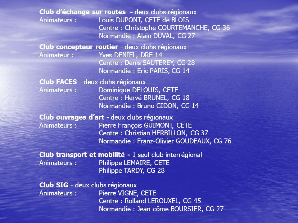 Club d'échange sur routes - deux clubs régionaux