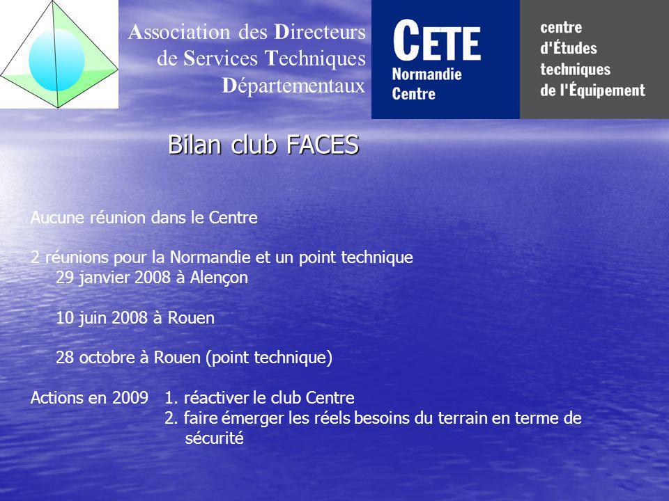 Bilan club FACES Association des Directeurs de Services Techniques