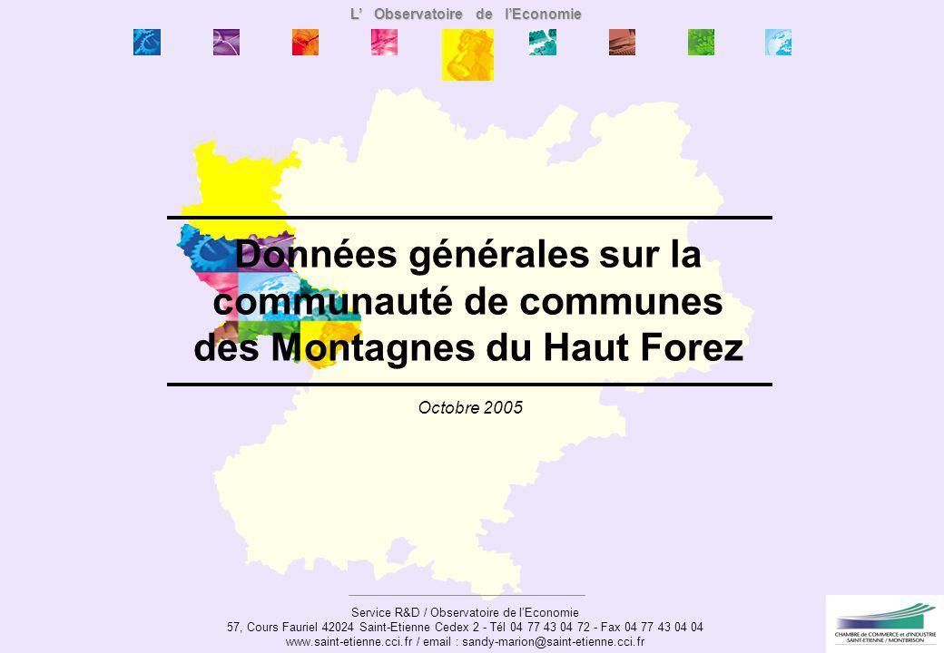 Données générales sur la communauté de communes