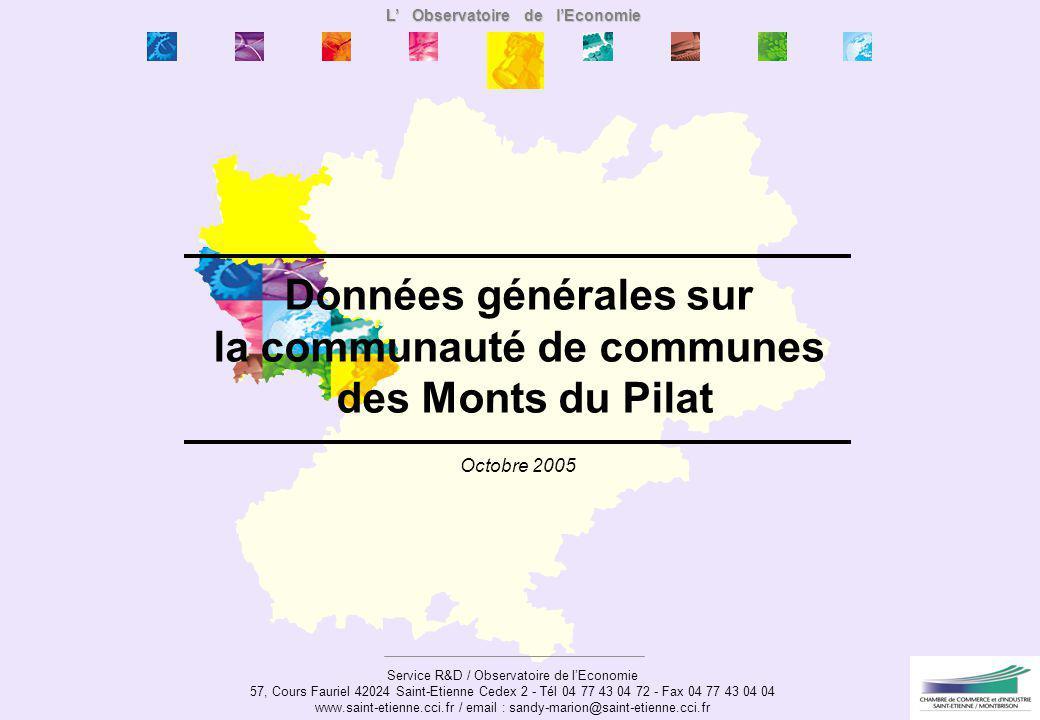 L' Observatoire de l'Economie la communauté de communes