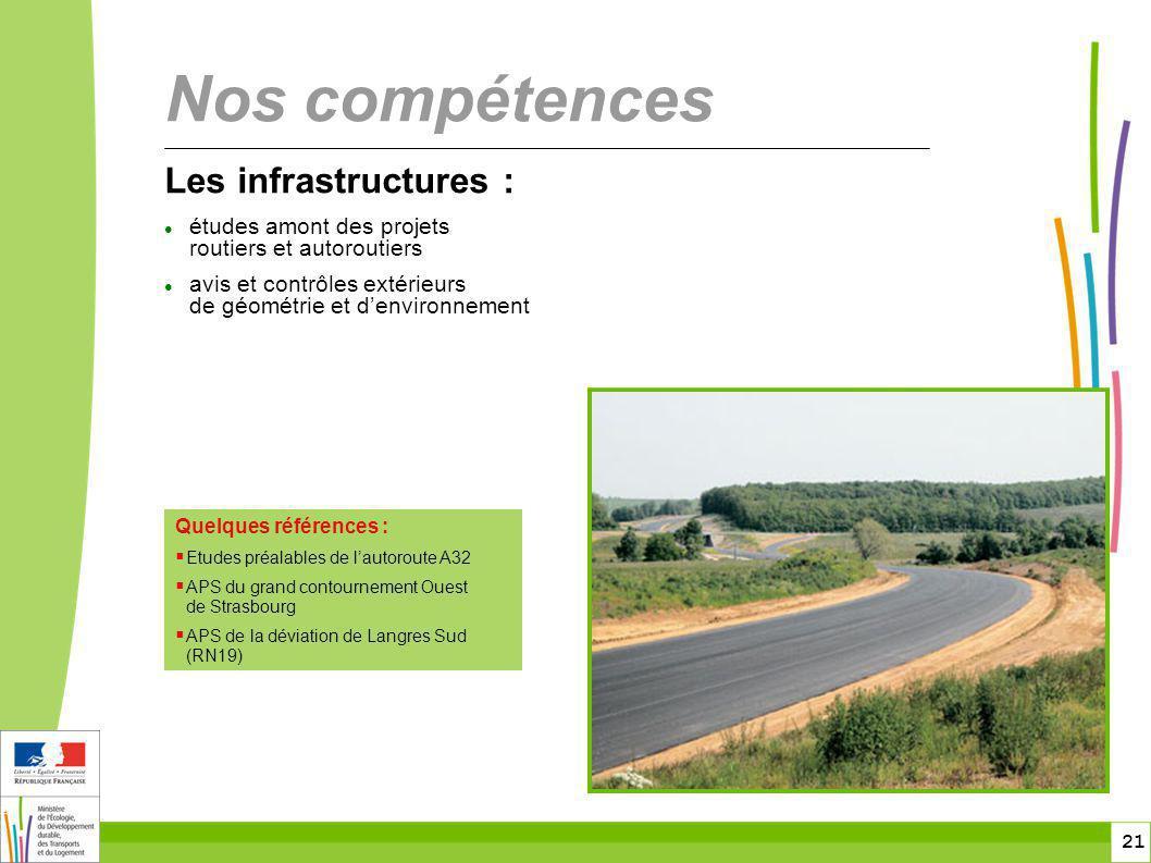 Nos compétences Les infrastructures :