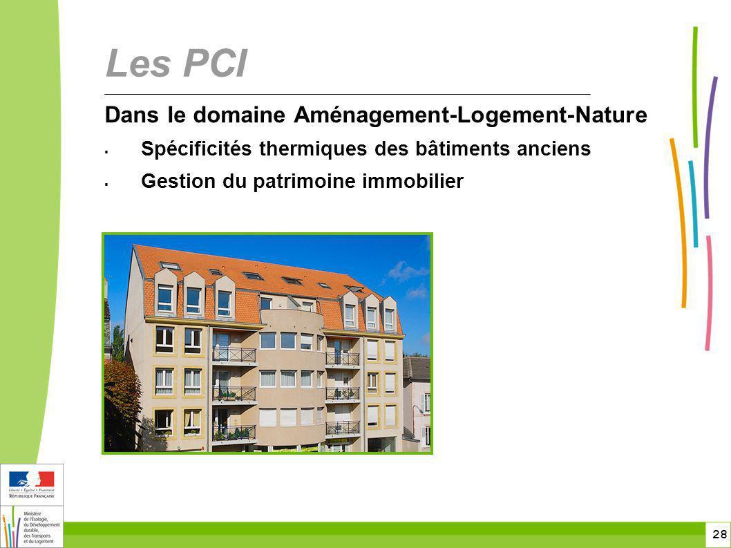 Les PCI Dans le domaine Aménagement-Logement-Nature