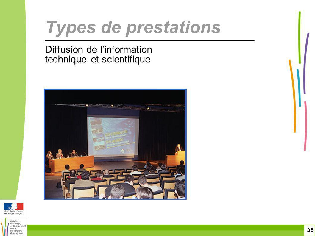 toitototototoot Types de prestations Diffusion de l'information technique et scientifique
