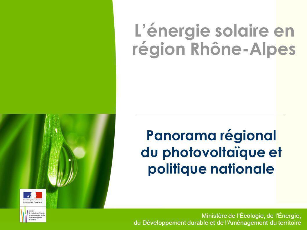 Panorama régional du photovoltaïque et politique nationale