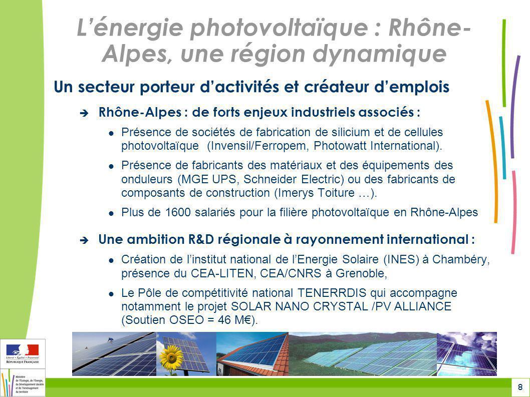 L'énergie photovoltaïque : Rhône-Alpes, une région dynamique