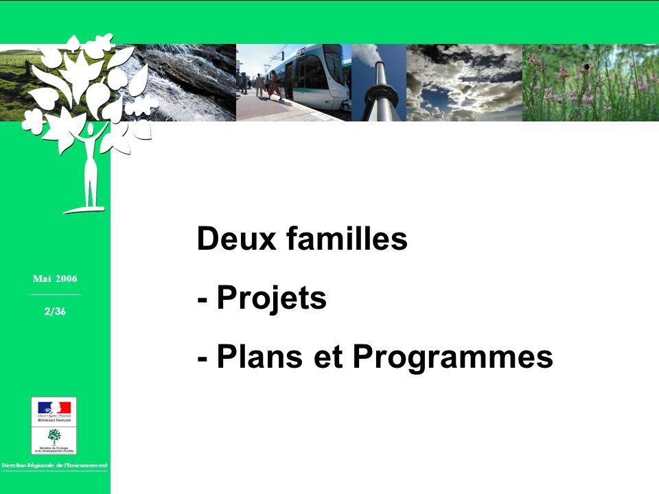 Deux familles - Projets - Plans et Programmes Mai 2006 2/36