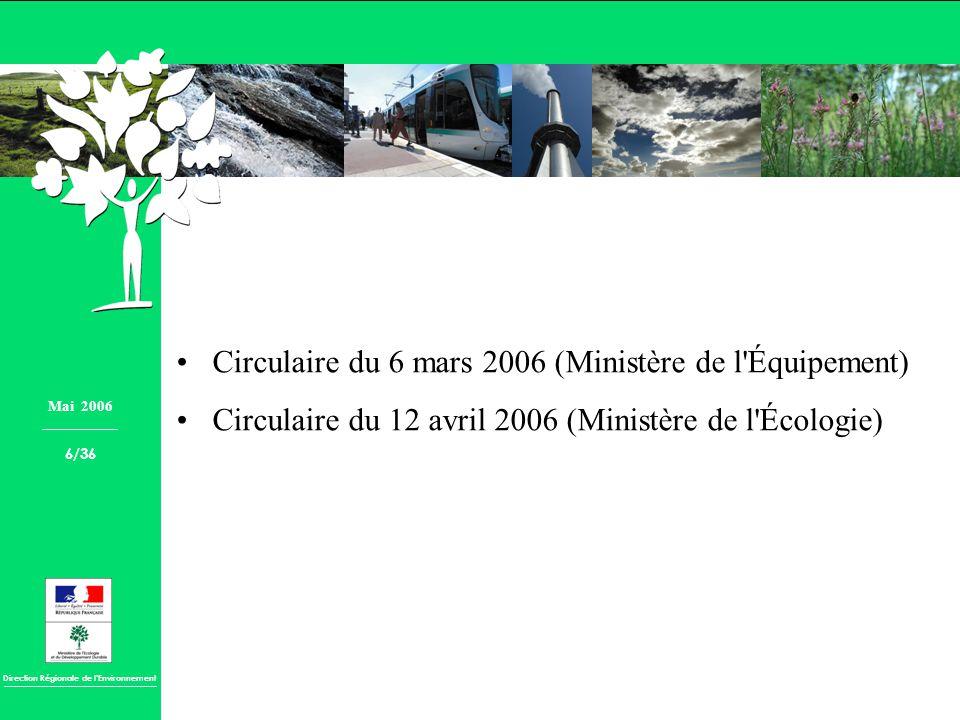 Circulaire du 6 mars 2006 (Ministère de l Équipement)