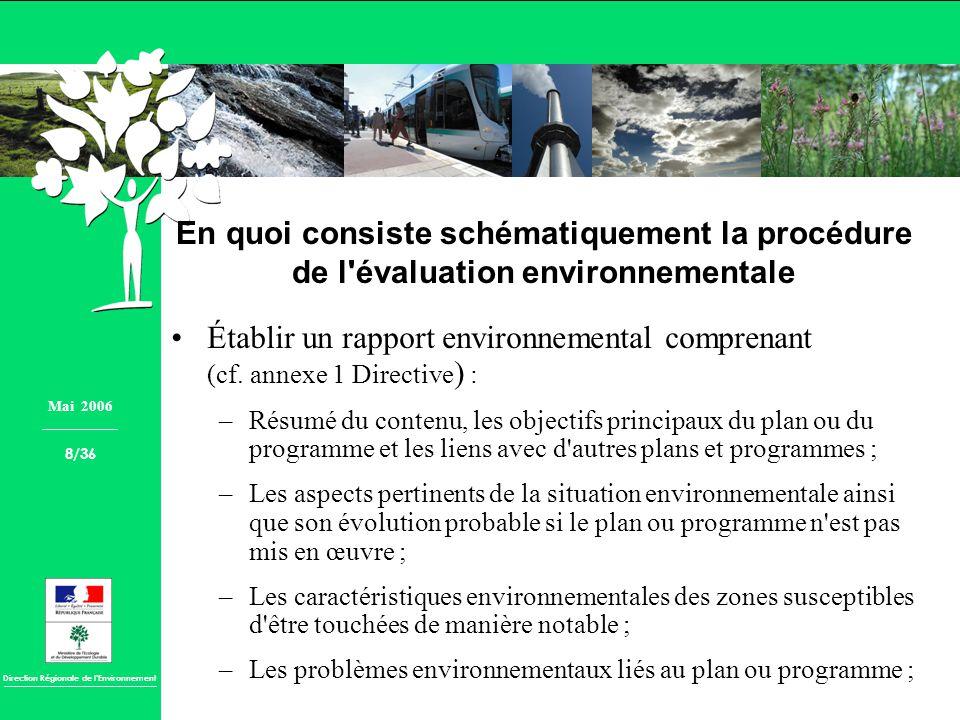 En quoi consiste schématiquement la procédure de l évaluation environnementale