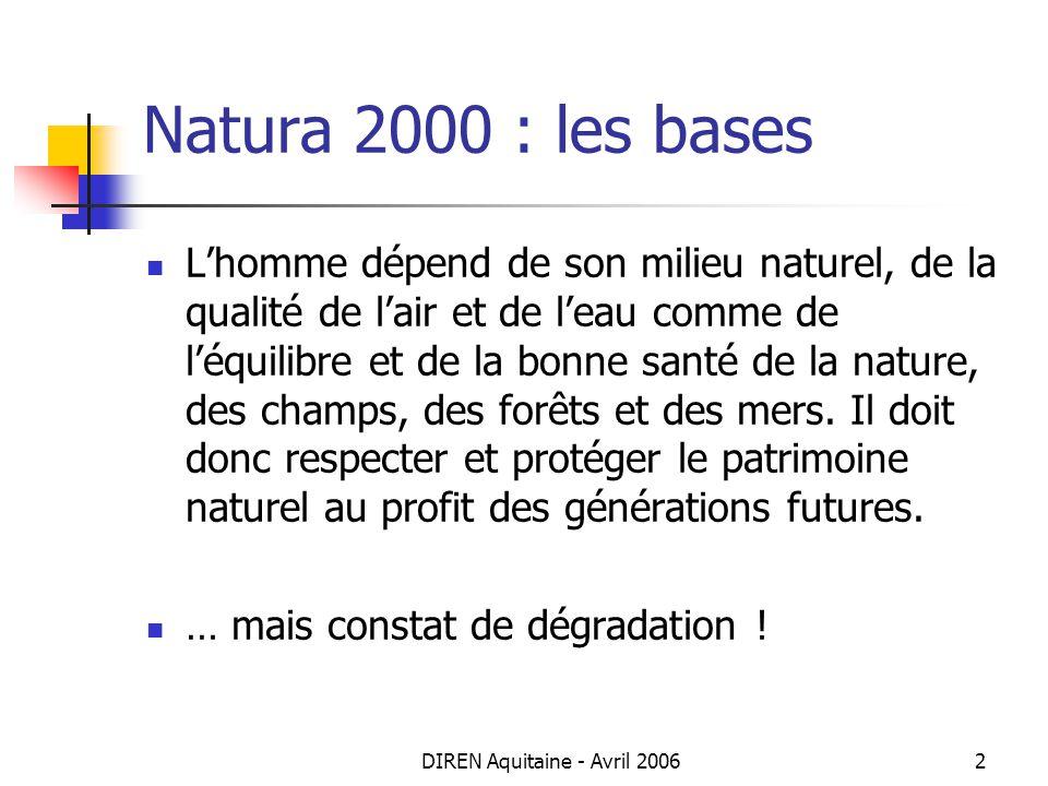 DIREN Aquitaine - Avril 2006