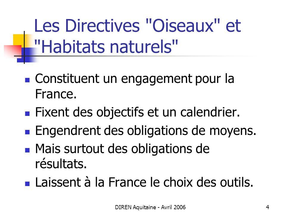 Les Directives Oiseaux et Habitats naturels