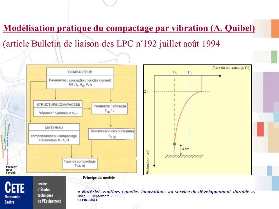 Modélisation pratique du compactage par vibration (A. Quibel)