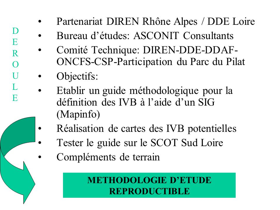 METHODOLOGIE D'ETUDE REPRODUCTIBLE
