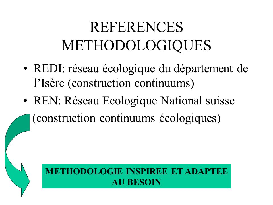 REFERENCES METHODOLOGIQUES