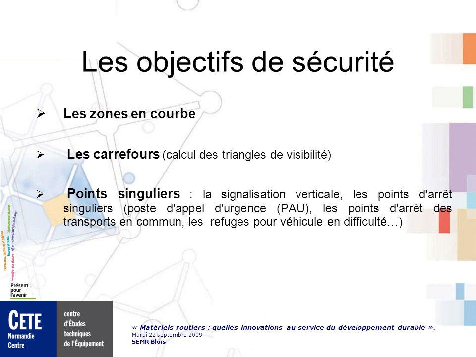 Les objectifs de sécurité