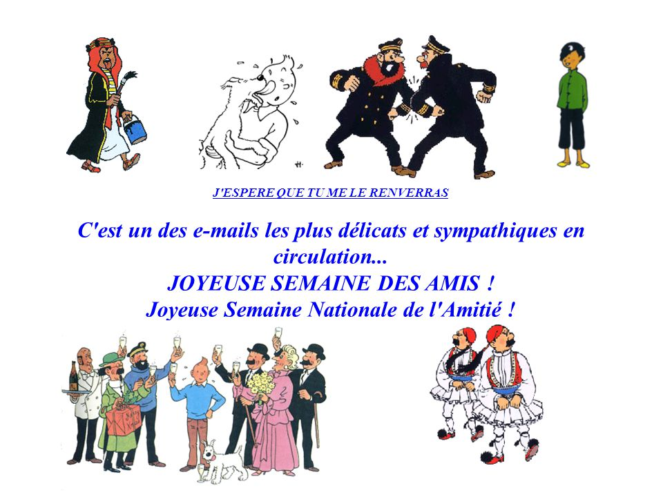 JOYEUSE SEMAINE DES AMIS ! Joyeuse Semaine Nationale de l Amitié !