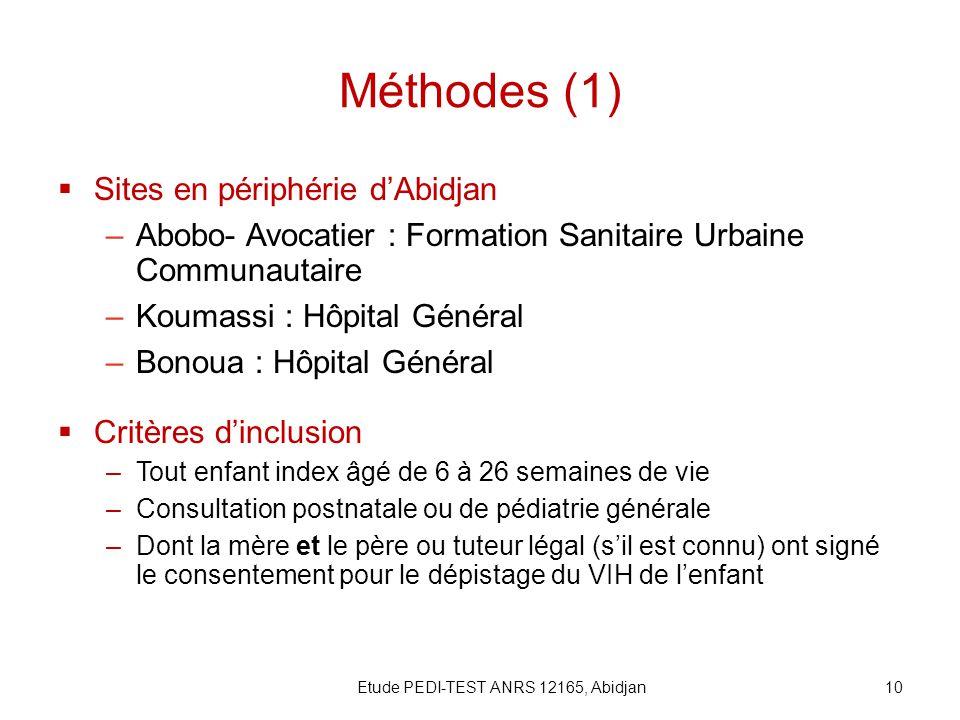 Etude PEDI-TEST ANRS 12165, Abidjan