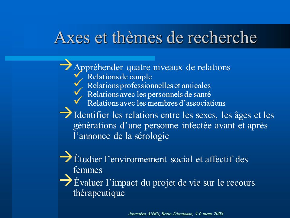 Axes et thèmes de recherche