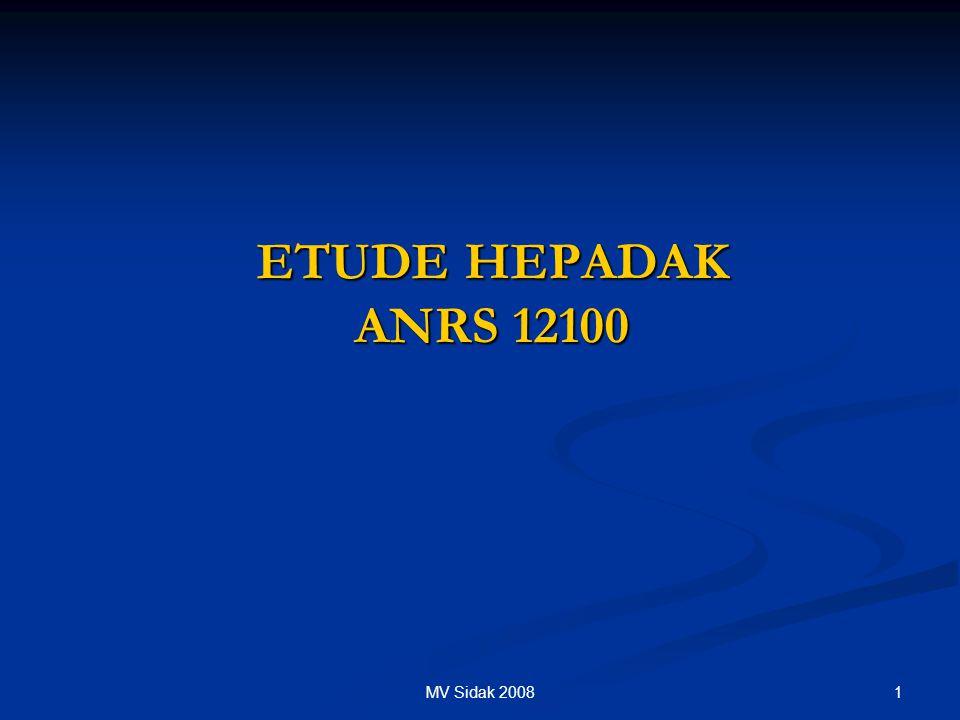 ETUDE HEPADAK ANRS 12100 MV Sidak 2008