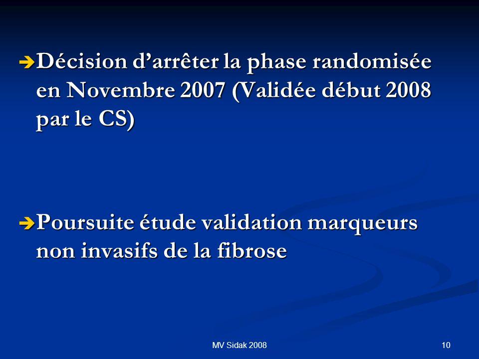 Poursuite étude validation marqueurs non invasifs de la fibrose