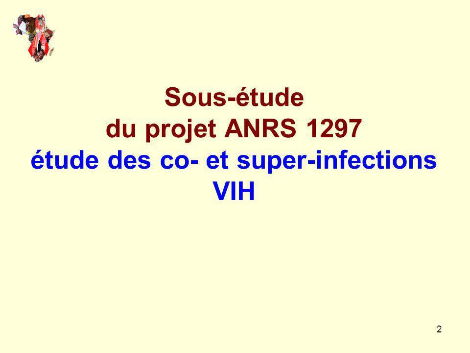 Sous-étude du projet ANRS 1297 étude des co- et super-infections VIH