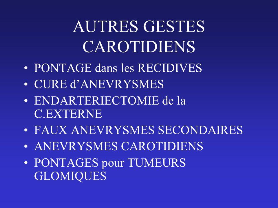 AUTRES GESTES CAROTIDIENS