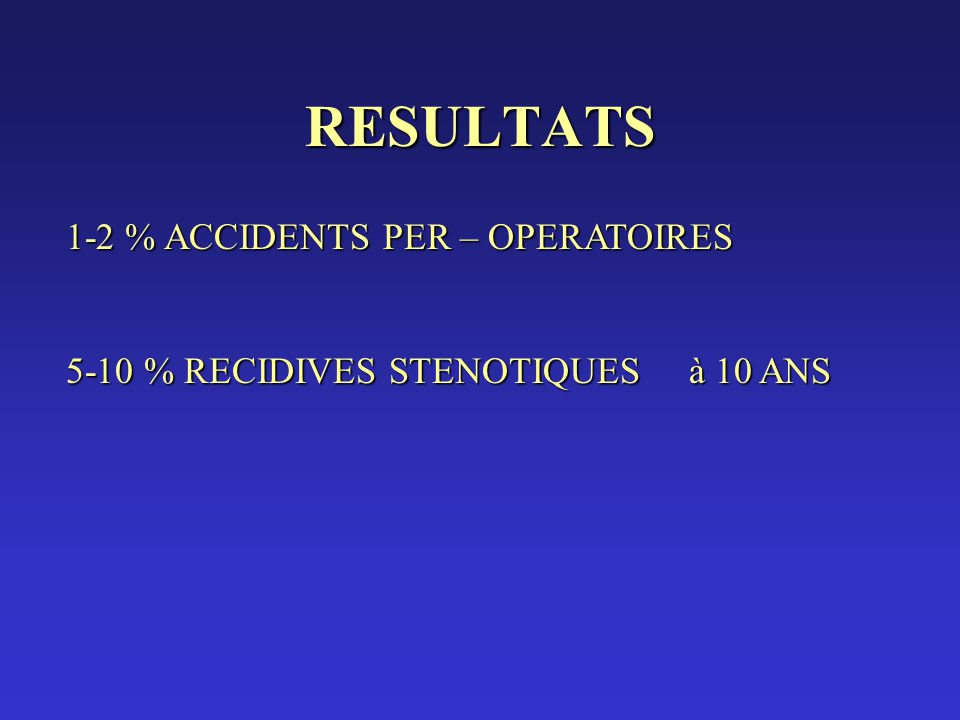 RESULTATS 1-2 % ACCIDENTS PER – OPERATOIRES