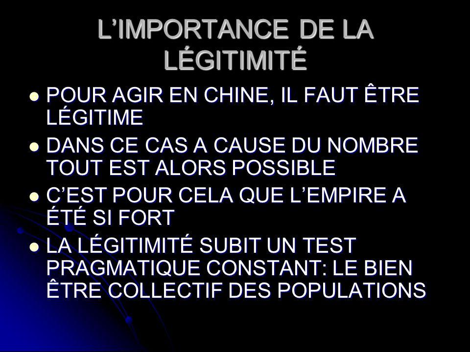 L'IMPORTANCE DE LA LÉGITIMITÉ