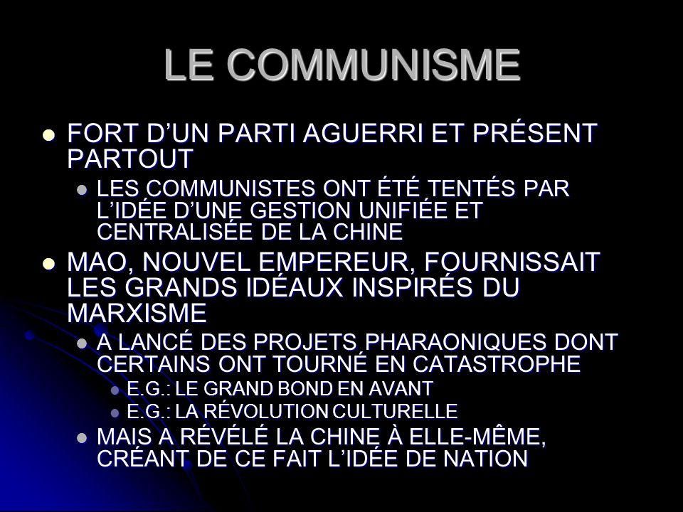 LE COMMUNISME FORT D'UN PARTI AGUERRI ET PRÉSENT PARTOUT