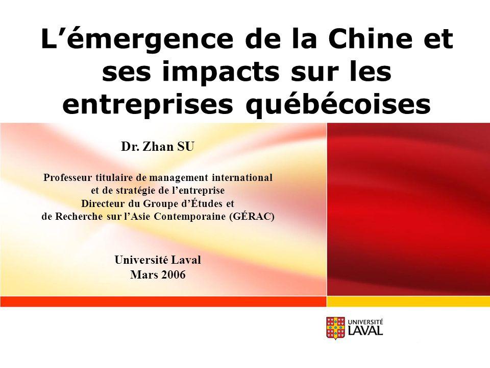 L'émergence de la Chine et ses impacts sur les entreprises québécoises