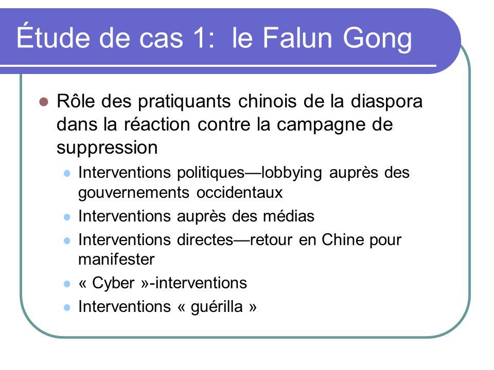 Étude de cas 1: le Falun Gong