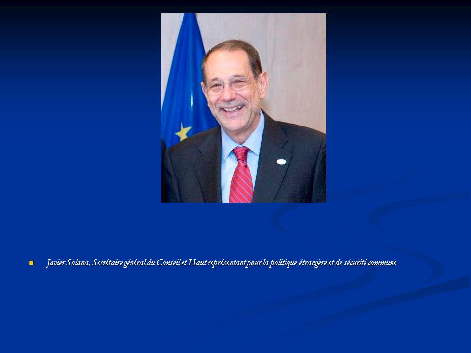 Javier Solana, Secrétaire général du Conseil et Haut représentant pour la politique étrangère et de sécurité commune