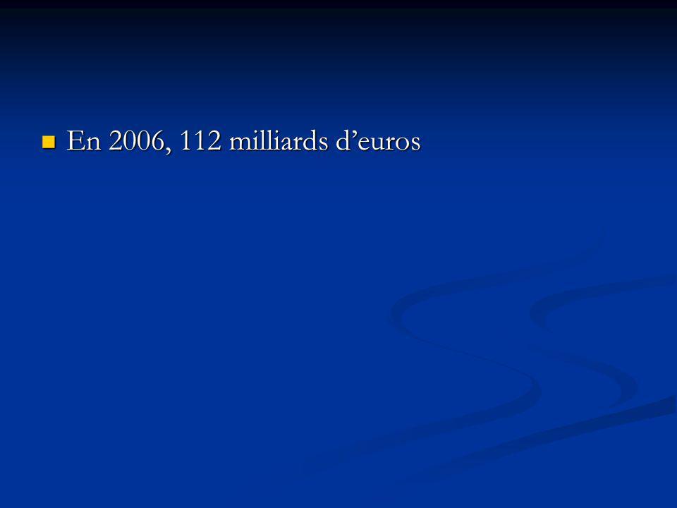 En 2006, 112 milliards d'euros