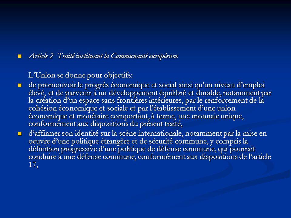 Article 2 Traité instituant la Communauté européenne