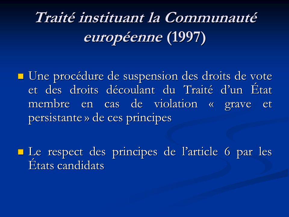 Traité instituant la Communauté européenne (1997)